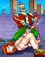 Submissive Futurama women in unleashed action