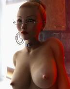 3D girl in glasses