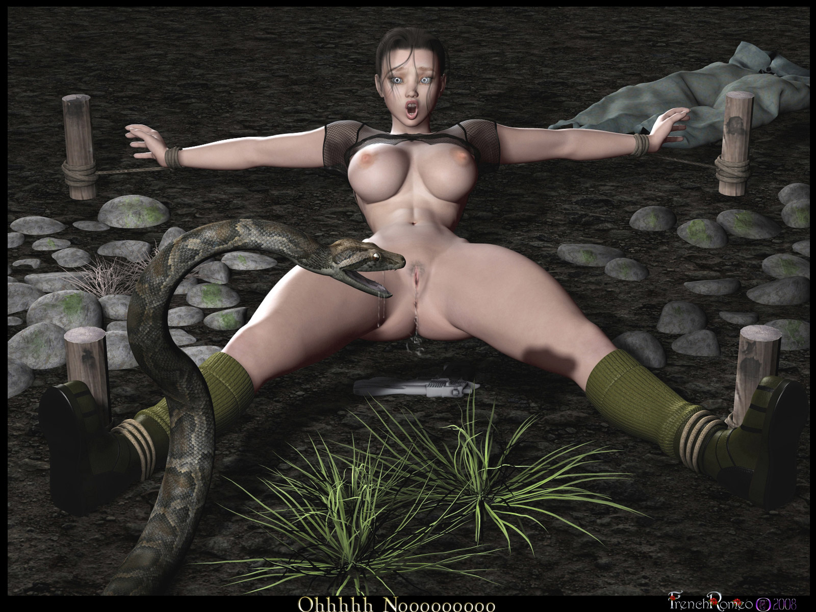 Sex a snake has girl Naked with