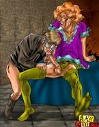Nasty threesome gay cosplay orgy
