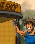 Sexy car mechanic