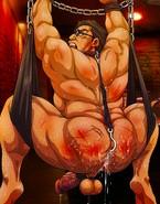 Guy's booty bleeding from hard making love