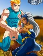 Big schlongs and buckets of jizzum for hot mutants from X-Men crew