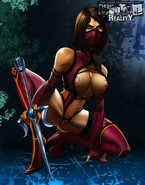 Stripping and hardcore fuck with curvy dolls from Mortal Kombat